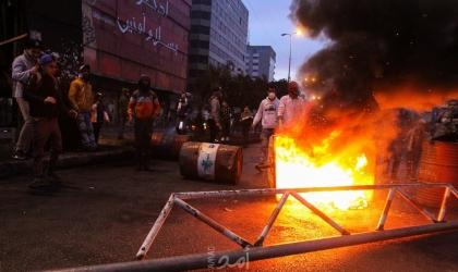 الأمن اللبناني يحذر المتظاهرين من اقتحام السراي الحكومي بطرابلس