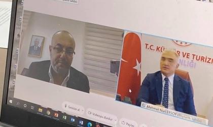 وزير الثقافة يبحث مع نظيره التركي تعزيز التعاون