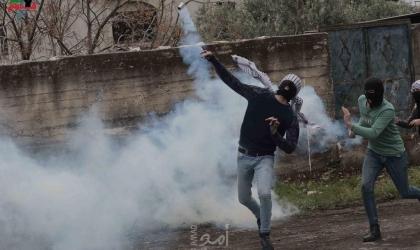 إصابات بالاختناق خلال قمع جيش الاحتلال لمسيرة كفر قدوم الأسبوعية