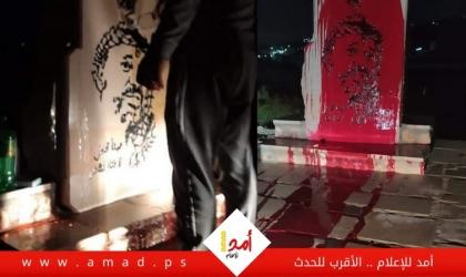 """طوباس: تخريب النصب التذكاري للشهيد الخالد """"ياسر عرفات"""" في طمون- فيديو"""