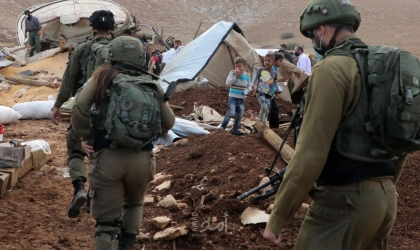 سلطات الاحتلال تخطر بترحيل أهالي خربة حمصة الفوقا في الأغوار