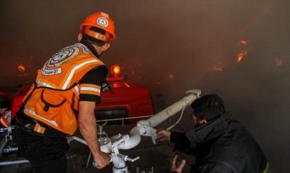 إخماد حريقين داخل ورشة للسيارات قرب جنين