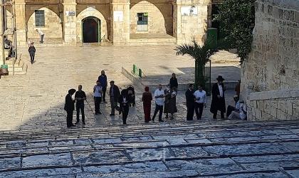 91 مستوطنًا يقتحمون الأقصى بحماية شرطة الاحتلال