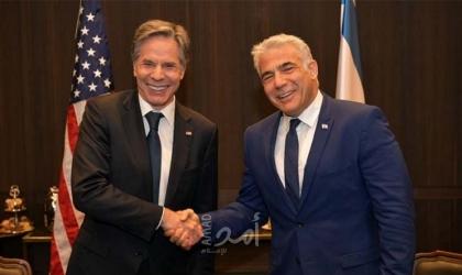 بلينكن ولابيد تحدثا عن ضرورة تحسين العلاقات الإسرائيلية الفلسطينية بشكل عملي