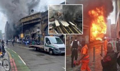 حريق كبير فى محطة مترو لندن والأسباب غير معروفة - فيديو