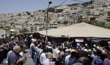 القدس: خيمة اعتصام في بلدة سلوان تضامناً مع العائلات المهددة بالإخلاء