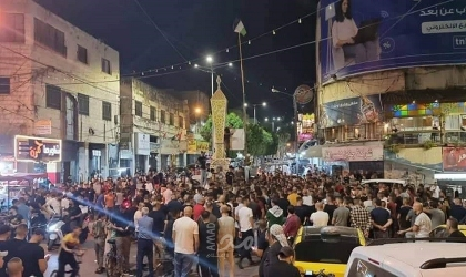 جنين: قوات الاحتلال تقمع مسيرة اسنادا للأسرى قرب حاجز الجلمة