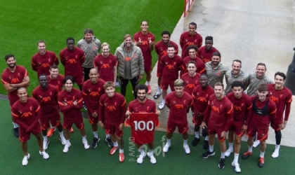 """ليفربول يحتفي بـ""""محمد صلاح"""" بعد تسجيله 100 هدف في الدوري"""