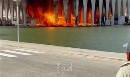 مصر: حريق ضخم في قاعة افتتاح مهرجان الجونة السينمائي
