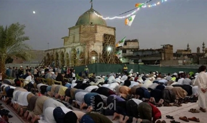 العراق: الاحتفال بالمولد النبوي بمسجد النوري بالموصل
