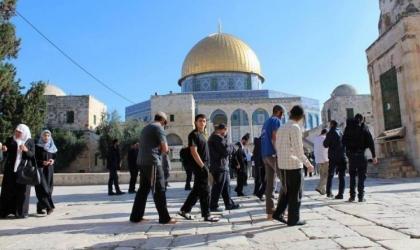 القدس: (72) مستوطنا يقتحمون باحات المسجد الأقصى