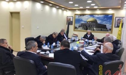"""في غياب عباس.. مركزية فتح ناقشت وضع آليات تنفيذ """"خطاب الرئيس"""" وتؤكد مواصلتها تحمل المسؤولية للمرحلة القادمة"""