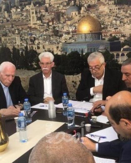 تفاصيل اجتماع مركزية فتح لمناقسة قرار حل الاتفاقات مع إسرائيل