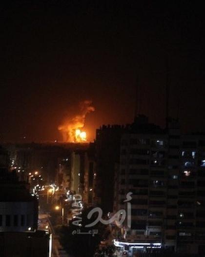 محدث- جيش الاحتلال يشن عدة غارات في انحاء متفرقة قطاع غزة