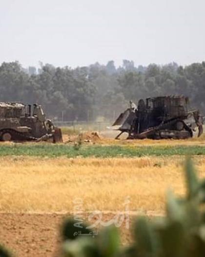 توغل محدود لجرافات جيش الاحتلال شرق المغازي