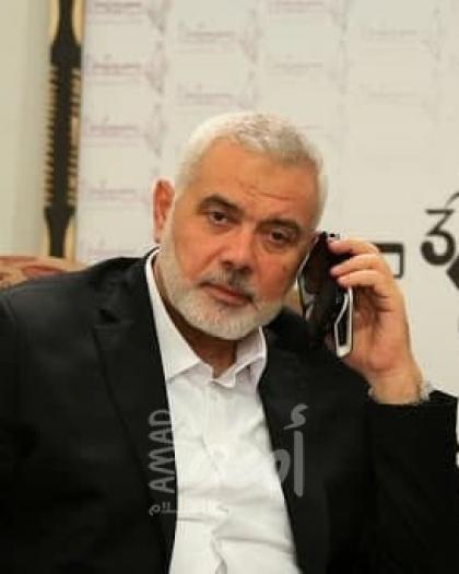 هنية يهاتف الشيخ صبري معلنًا تضامنه الكامل معه