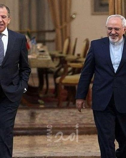 """""""لافروف وظريف"""" يؤكدان على ضرورة رفع كافة العقوبات عن إيران"""