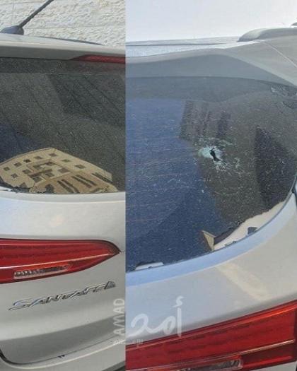 """الاعتداء على مركبة رئيس قائمة """"الحراك الفلسطيني الموحد"""" الانتخابية"""