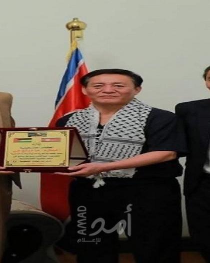 سفير كوريا الشمالية يستقبل المفوض العام للعشائر الفلسطينية