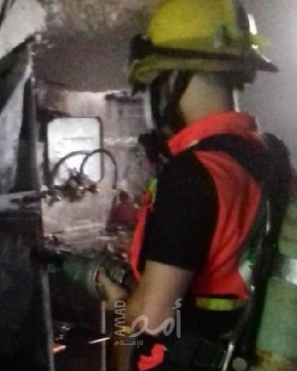 إخماد حريق اندلع في منزل سكني بمدينة غزة