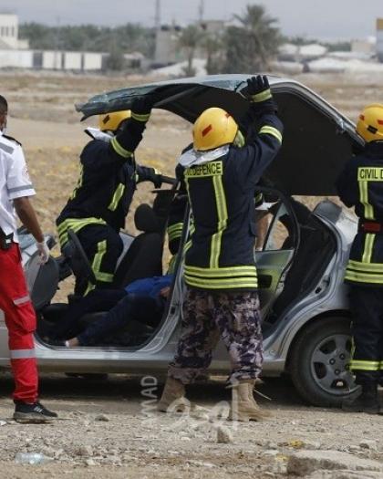 طواقم الدفاع المدني تتعامل مع (32) حادث ومهمة في الضفة الغربية